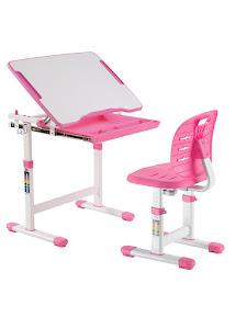 Парта детская растущая и стул, B201 PINK