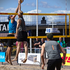 Beach volley by Simo Järvinen - Sports & Fitness Other Sports ( sand, ball, player, volleyball, sports, summer, game, men, beach )
