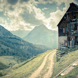 Plumsjochhuette by Martin Rosenkranz - Landscapes Mountains & Hills ( martin rosenkranz alps mountains hut path )