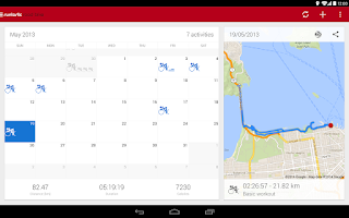 Screenshot of Runtastic Road Bike Tracker