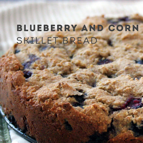 Blueberry and Corn Skillet Bread