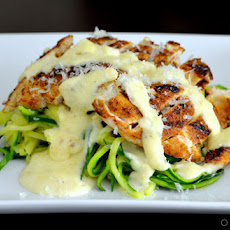 Blackened Chicken Alfredo with Zucchini Noodles