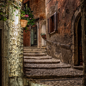Sermoneta at night by Mike Allen - Buildings & Architecture Architectural Detail ( night, nikon )