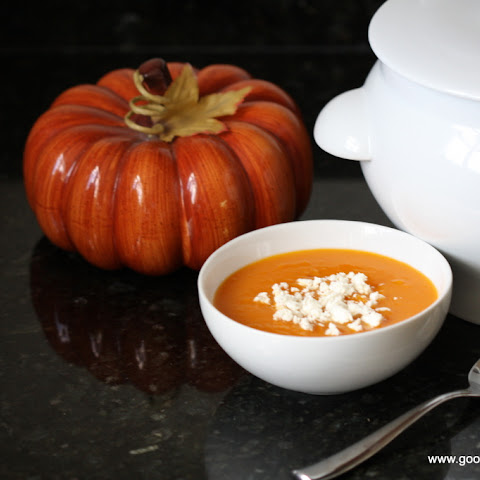 Roasted Butternut Squash Pumpkin Saffron Soup