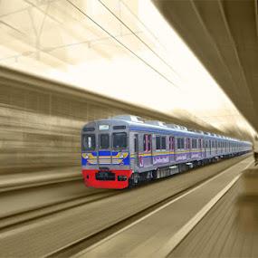 speed by El Baim as TOMMY AR - Transportation Trains ( station, train, transportation, city,  )