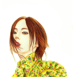 Sohee An by Cheong Plyn - Painting All Painting ( fashion, colourpencil, girl, style, mixedmedia, artsy, kpop, singer, artist, floral, drawing, korean )