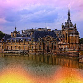 Chantilly castle by Gérard CHATENET - City,  Street & Park  Historic Districts