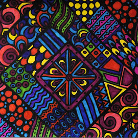 Colorful Squares by Amada Gonzalez - Abstract Patterns ( abstract, unique, patterns, squares, art )