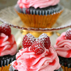 Chocolate Raspberry Champagne Cupcakes