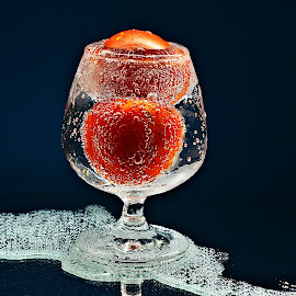 The Overflow by Prasanta Das - Food & Drink Fruits & Vegetables ( overflow, bubbles, soda water, red tomato )