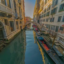 Venice by Yordan Mihov - City,  Street & Park  Historic Districts ( gondola, europe, street, buildings, venice, canal, italy )