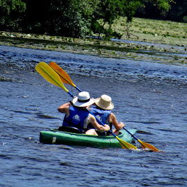 Synchronized by Howard Sharper - Sports & Fitness Watersports ( sports, fitness, recreation, riverside, boating )