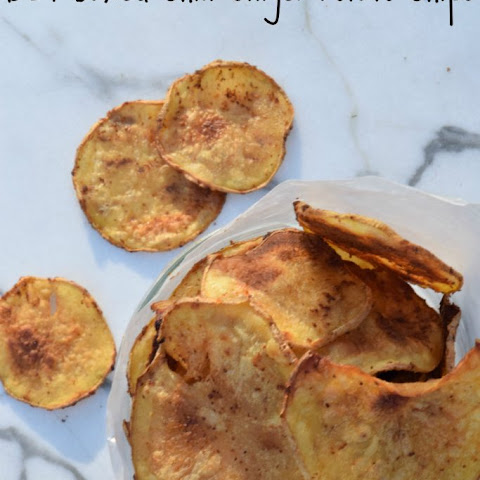 DIY Baked Chili Ginger Potato Chips