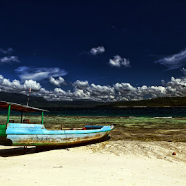 Blue Sky & a Boat by Andi Appa - Transportation Boats