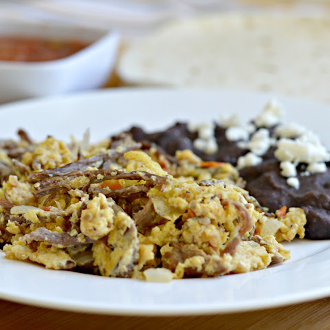 Mexican Style Machaca Eggs (Great for Breakfast Burritos)