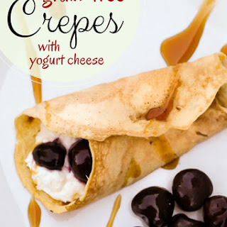 Cherry Almond Coconut Crepes