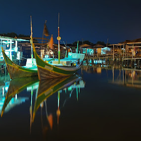 Kampung Muhibbah by Armie YS Yusop Teppo - City,  Street & Park  Vistas ( home, nature, waterscape, landscape, boat )