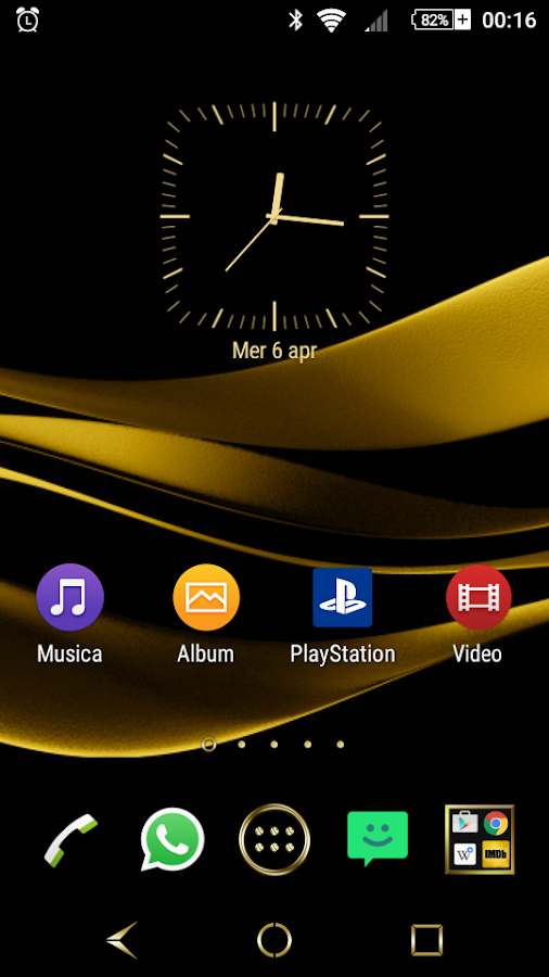 Black & Gold Theme for Xperia Screenshot 0