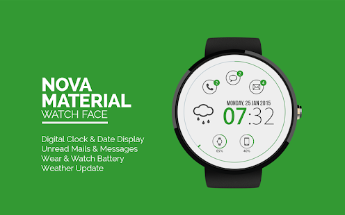 Nova Material Watch Face -Free