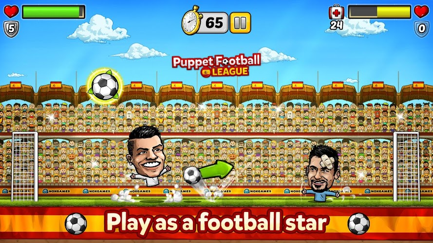 Puppet Football Spain CCG/TCG Android App Screenshot
