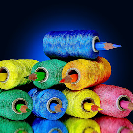 Pencil-thread combo  by Asif Bora - Artistic Objects Other Objects