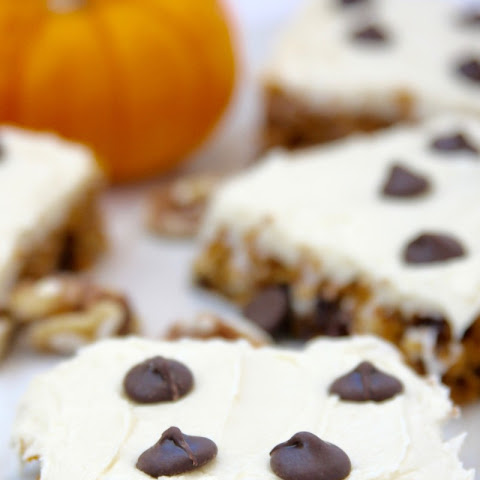 Frosted Pumpkin Oatmeal Squares