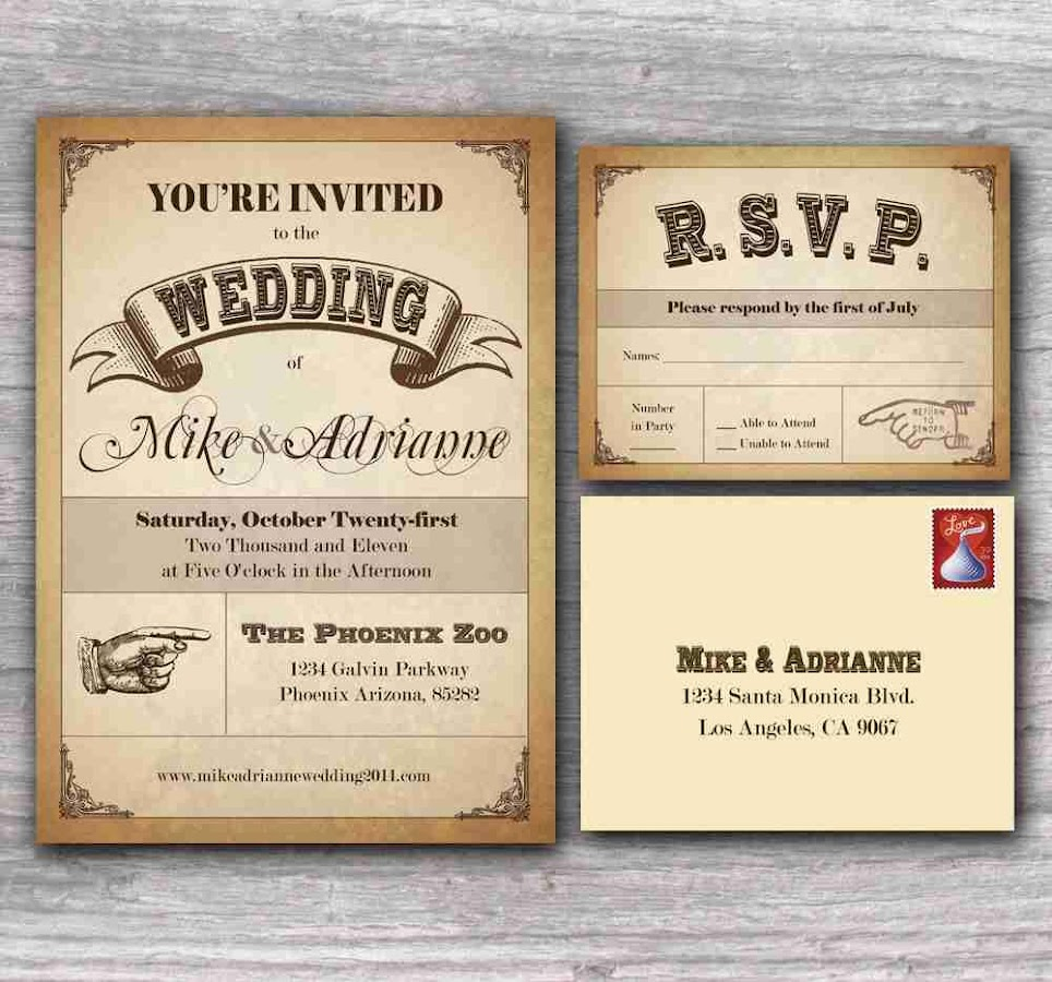 Wedding Invitation Design Screenshot