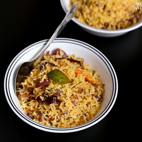 Phodnicha Bhat Recipe/How to make seasoned rice