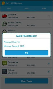 Kudo RAM Booster - screenshot