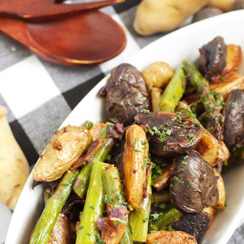 Roasted Fingerling and Asparagus Potato Salad