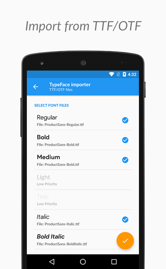 TypeFace - Change fonts with Root or Substratum Screenshot 4