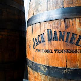 Jack Daniels Barrel  by T Sco - Food & Drink Alcohol & Drinks ( jack, wood, whiskey, alcohol, flare, barrel, sun, jack daniels )