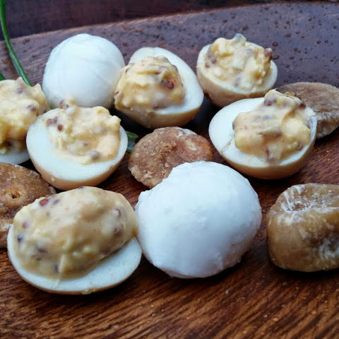 Bourbon Pickled Quail Eggs