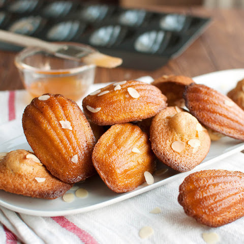 French Madeleines With Almonds and Apricot Glaze