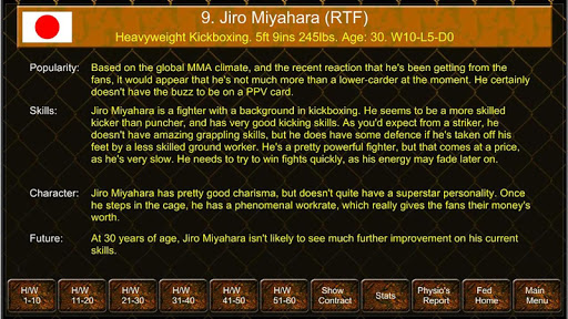 MMA Manager Game - screenshot