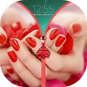 Romantic Zipper Lock Screen
