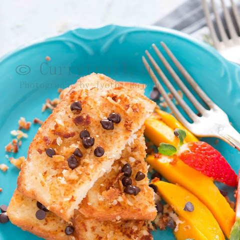 Coconut French Toast with Chocolate Chips