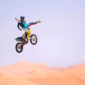 Jump by Viktoryia Vinnikava - Sports & Fitness Other Sports ( desert, sport, high, man, jump,  )