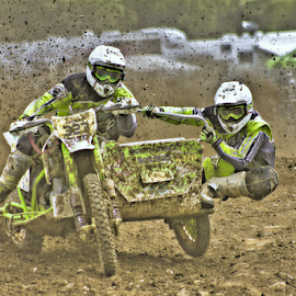by Mike Ross - Sports & Fitness Motorsports ( mud, motocross, speed, mike ross, racing, green, milton malsor, sidecar, mx, acu )
