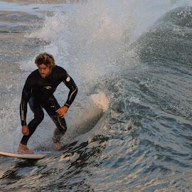 HB Surfer by Jose Matutina - Sports & Fitness Surfing ( water, surfer, orange county, california, sea, sport, ocean, huntington beach )