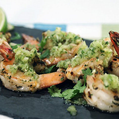 Green Tomato Salsa with Grilled Shrimp