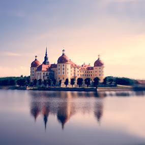 Schloss Molritzburg (Moritzburg Palace) by Karin Wollina - City,  Street & Park  Vistas ( water, baroque, germany, lensbaby, palace,  )