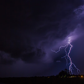 The Beast by David Patterson - Landscapes Weather ( countryside, lightning, shelf cloud, warned, supercell, severe, storm )