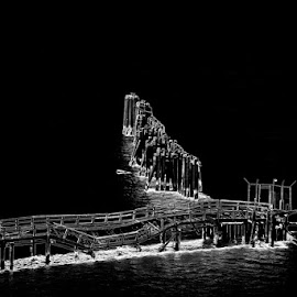 The Pilings by Craig Turner - Buildings & Architecture Bridges & Suspended Structures