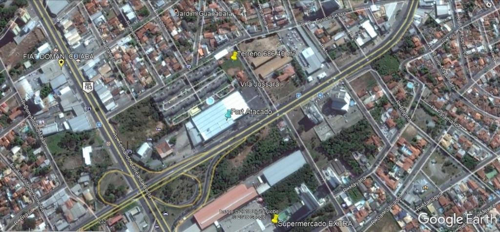 Terreno residencial à venda, 686 m², Jd. Guanabara, Cuiabá.