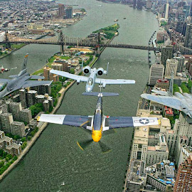 Celebrating History by Marc Baisden - Transportation Airplanes ( adventure, time, airplanes, honor, travel, new york, celebration )