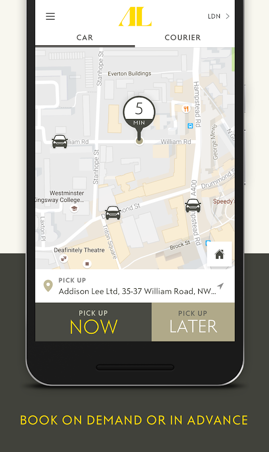 Addison Lee – Taxi App Screenshot 0