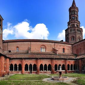 Abbazia di Chiaravalle (Milano) by Stefano Rho - Buildings & Architecture Public & Historical ( chiaravalle, abbazia, milan, church, architecture, milano, panorama )