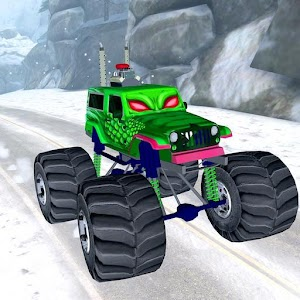 3D Monster Truck Snow Racing