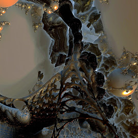 Black Hole Down by Rick Eskridge - Illustration Sci Fi & Fantasy ( jwildfire, sci-fi, mb3d, fractal, twisted brush )
